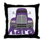 Trucker Kara Throw Pillow