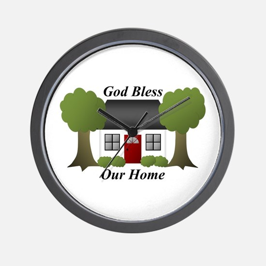 God Bless Our Home Wall Clock