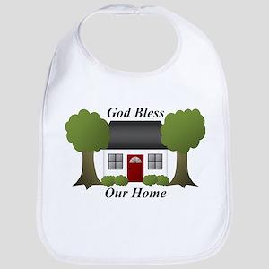 God Bless Our Home Bib