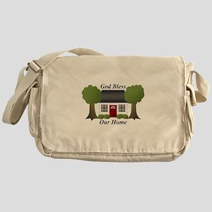 God Bless Our Home Messenger Bag