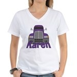 Trucker Karen Women's V-Neck T-Shirt