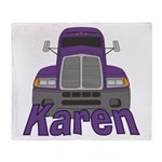 Trucker Karen Throw Blanket
