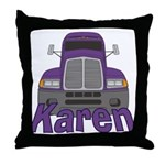 Trucker Karen Throw Pillow