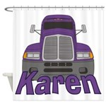 Trucker Karen Shower Curtain