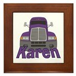Trucker Karen Framed Tile