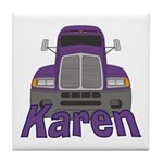 Trucker Karen Tile Coaster
