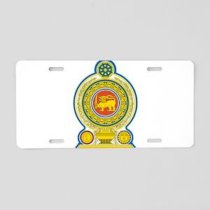 Sri Lanka Coat Of Arms Aluminum License Plate