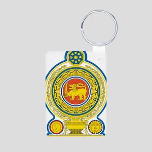 Sri Lanka Coat Of Arms Aluminum Photo Keychain