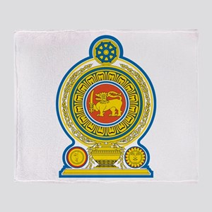 Sri Lanka Coat Of Arms Throw Blanket