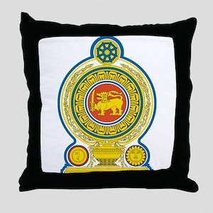 Sri Lanka Coat Of Arms Throw Pillow