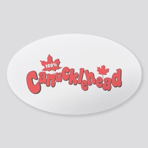 Canucklehead Sticker (Oval)