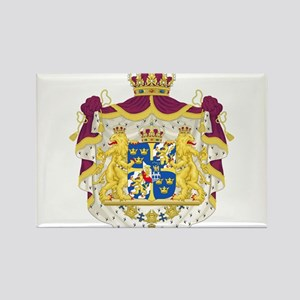 Sweden Coat Of Arms Rectangle Magnet