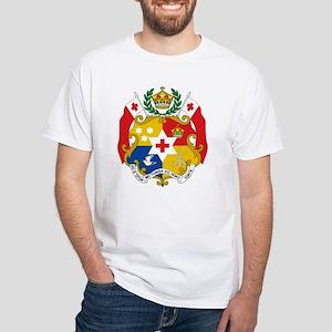 Tonga Coat Of Arms White T-Shirt