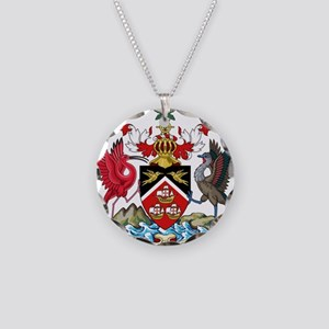 Trinidad and Tobago Coat Of Arms Necklace Circle C