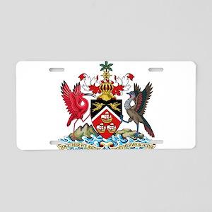 Trinidad and Tobago Coat Of Arms Aluminum License
