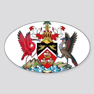 Trinidad and Tobago Coat Of Arms Sticker (Oval)