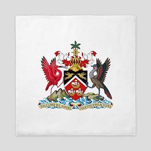 Trinidad and Tobago Coat Of Arms Queen Duvet