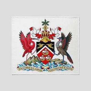 Trinidad and Tobago Coat Of Arms Throw Blanket
