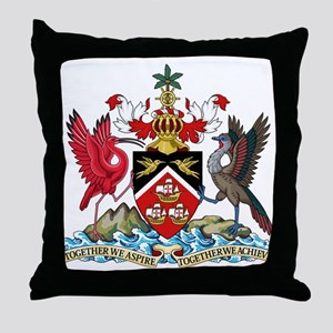 Trinidad and Tobago Coat Of Arms Throw Pillow