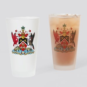 Trinidad and Tobago Coat Of Arms Drinking Glass