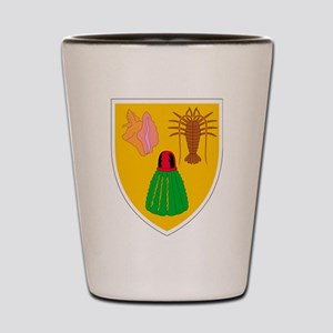 Turks and Caicos Coat Of Arms Shot Glass