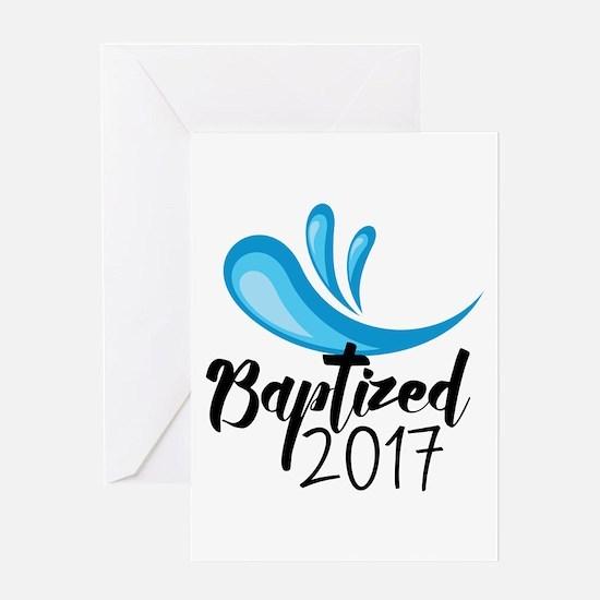 Baptized 2017 Greeting Cards