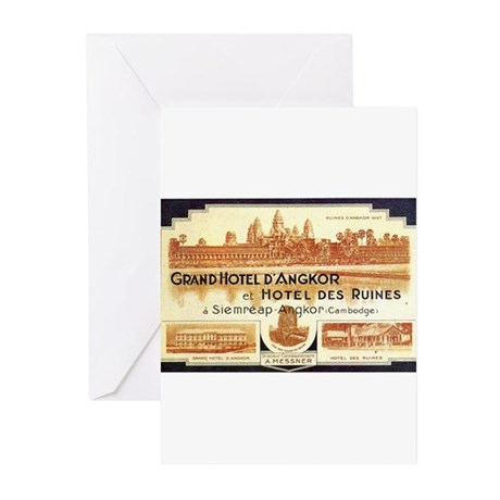Cambodia Grand Hotel Greeting Cards (Pk of 10)