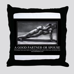 A good partner or spouse Throw Pillow