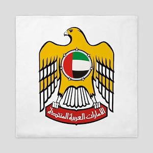 United Arab Emirates Coat Of Arms Queen Duvet