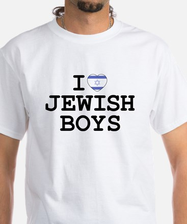 I Heart Jewish Boys White T-Shirt