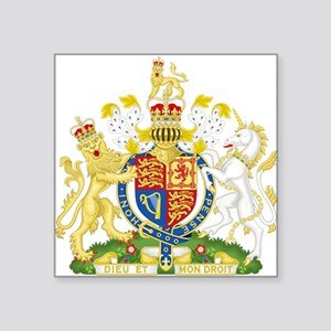 "United Kingdom Coat Of Arms Square Sticker 3"" x 3"""