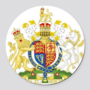 United Kingdom Coat Of Arms Round Car Magnet