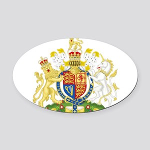 United Kingdom Coat Of Arms Oval Car Magnet