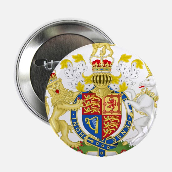 "United Kingdom Coat Of Arms 2.25"" Button"