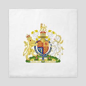 United Kingdom Coat Of Arms Queen Duvet