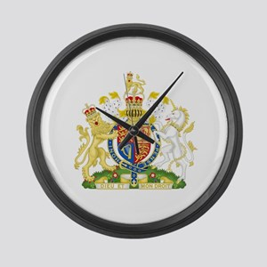 United Kingdom Coat Of Arms Large Wall Clock