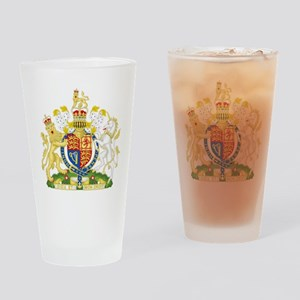 United Kingdom Coat Of Arms Drinking Glass