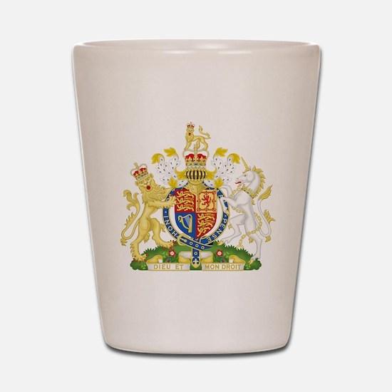 United Kingdom Coat Of Arms Shot Glass