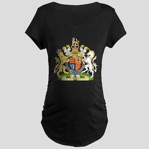 United Kingdom Coat Of Arms Maternity Dark T-Shirt
