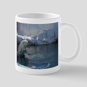 Beluga Whale jumping 2 Mug