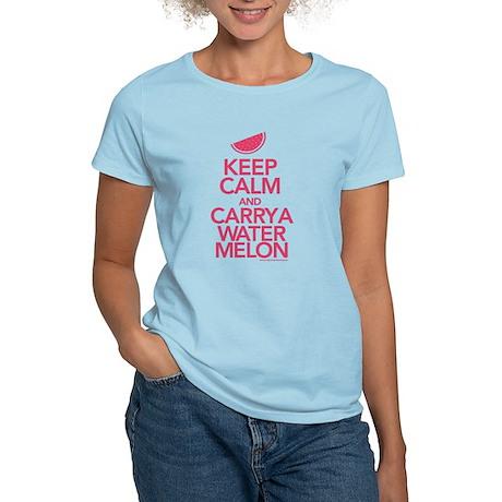 Keep Calm Carry a Watermelon Women's T-Shirt