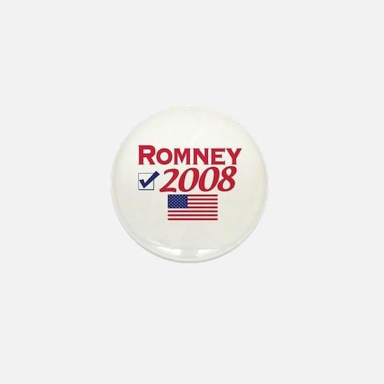 Mitt Romney 2008 Gear Mini Button