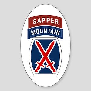 10th Mountain Sapper Sticker (Oval)