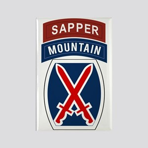 10th Mountain Sapper Rectangle Magnet
