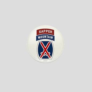 10th Mountain Sapper Mini Button