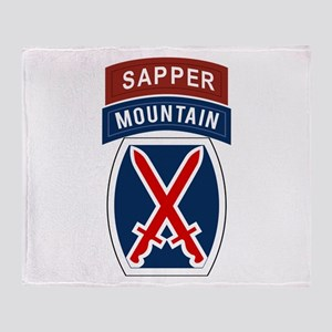 10th Mountain Sapper Throw Blanket