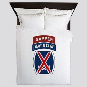 10th Mountain Sapper Queen Duvet