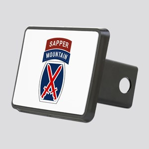 10th Mountain Sapper Rectangular Hitch Cover