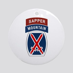 10th Mountain Sapper Ornament (Round)