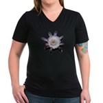 Monster Flower Women's V-Neck Dark T-Shirt